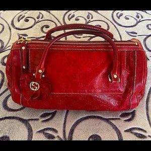 GUCCI Small Barrel handbag in Deep Red